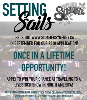 The Synergy Setting Sails program assures that our talented, dedicated and hardworking youth are rewarded with profound experiences that reinforce their outstanding leadership, communication and agriculture advocacy.