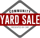 Community Yard Sale the first Friday of September.