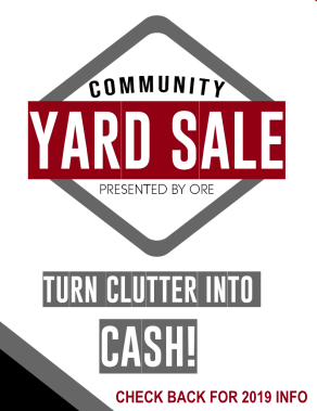 2nd Annual Yard Sale at the Olds Big Rack Cow Palace Event Centre returning in 2019.